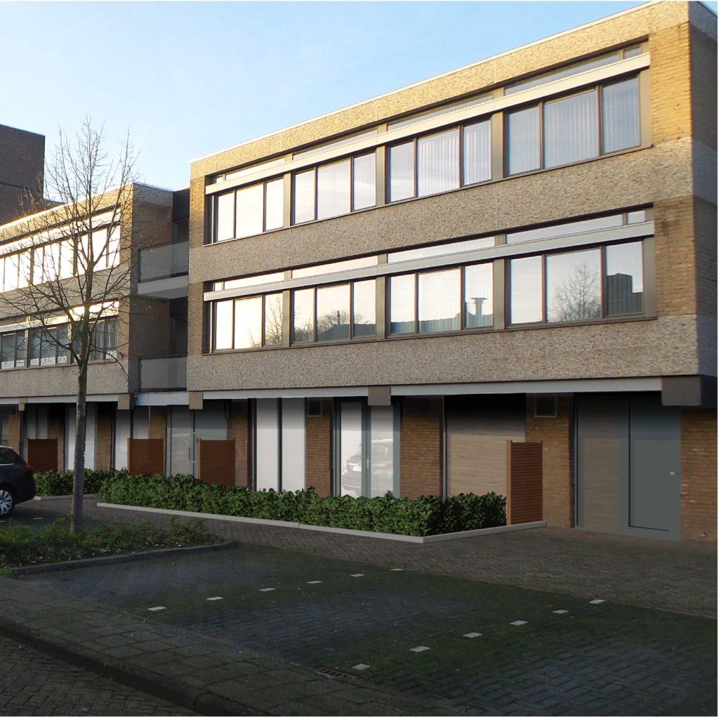 Transformatie van leegstaand kantorencomplex naar sociale huurwoningen aan de Schapendries.